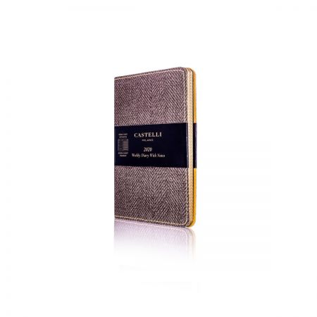 Harris Pocket Flexible Diary - Tobacco Brown