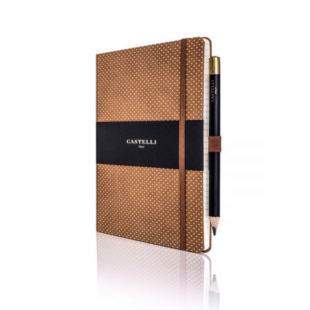 Dotty Ivory Notebook (Medium Ruled) Chestnut