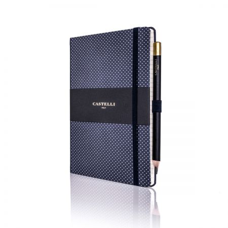 Dotty Ivory Notebook (Medium Ruled) Royal Blue
