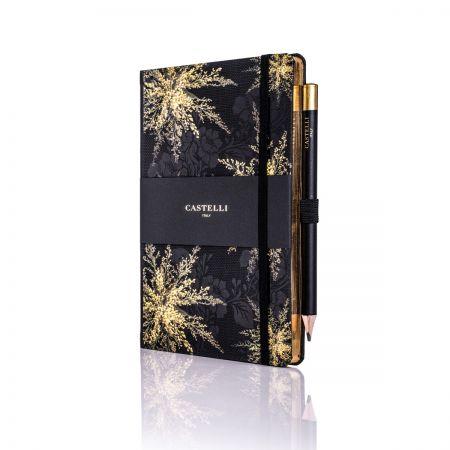 Midnight Floral Ivory Medium Notebook - Heather
