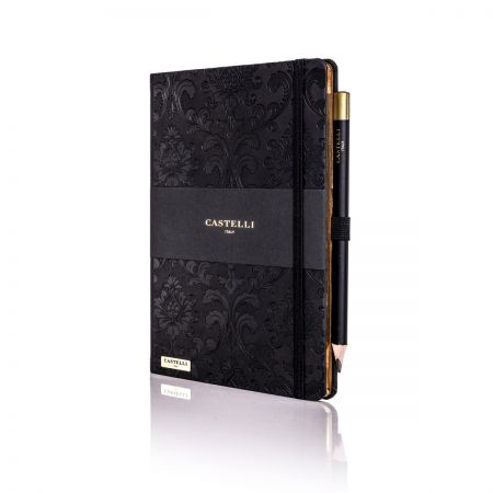 Baroque Ivory Notebook - Black