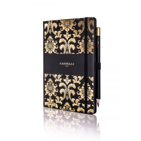 Baroque Ivory Notebook - Gold