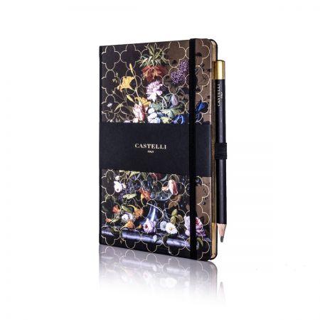 Vintage Floral Ivory Medium Notebook - Peony