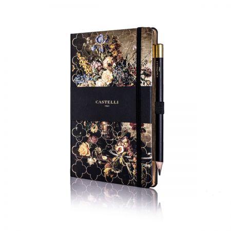Vintage Floral Ivory Medium Notebook - Rose