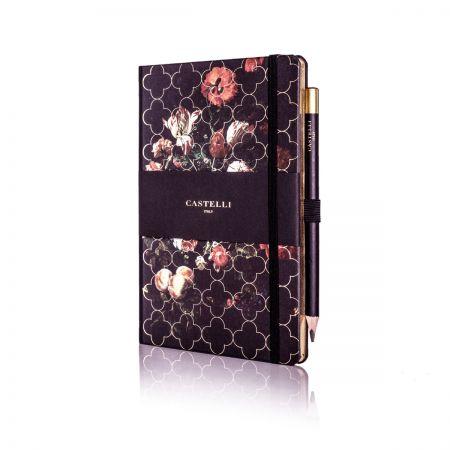 Vintage Floral Ivory Medium Notebook - Tulip