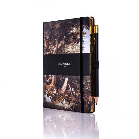 Vintage Paradise Ivory Medium Notebook - Aviaria