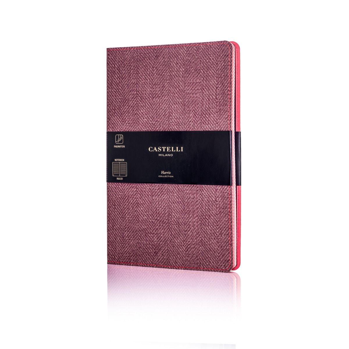601e221d3 Harris Medium Ruled Flexible Notebook - Maple Red